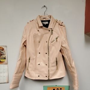 House of CB Pink leather jacket